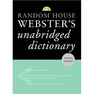 Random house websters unabridge dictionary