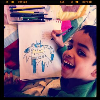 Mykey drawing batman