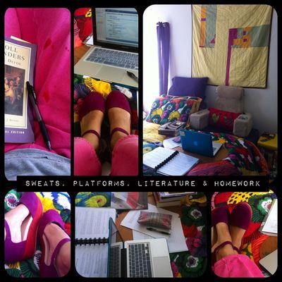 Sweats platforms literature and homework