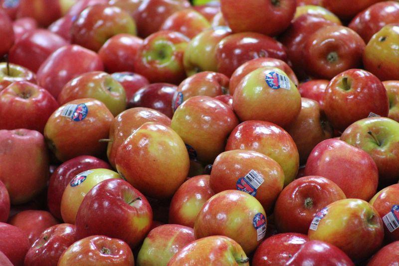 Waxed apples