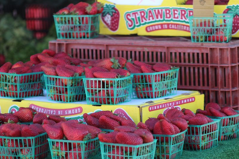 Farmer market's strawberries