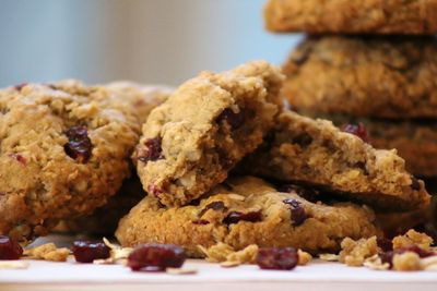 Vegan oatmeal coconut craisin cookie 6