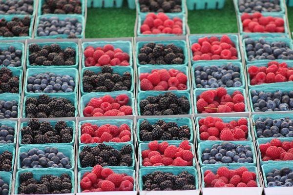 Farmer market's strawberries